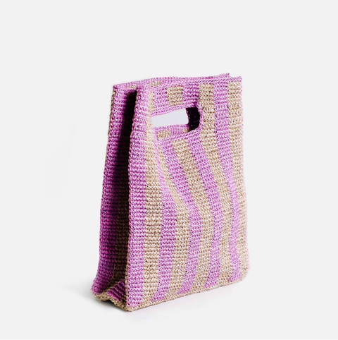 Provence Bag by Someware Goods in Lilac Stripe