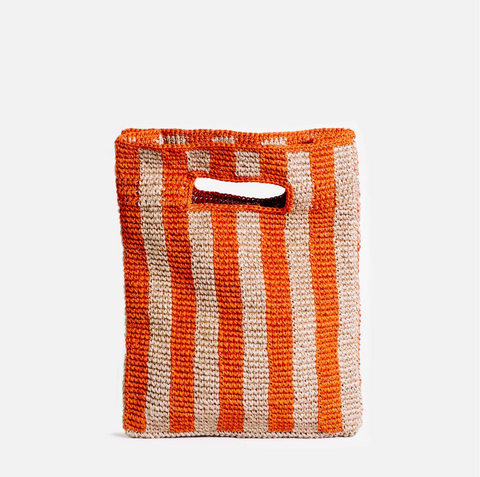Provence Bag in Blood Orange Stripe