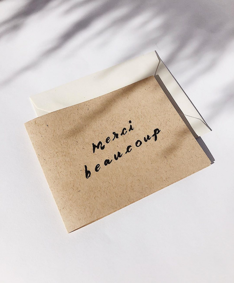 Merci Beaucoup Card by Wilde House Paper