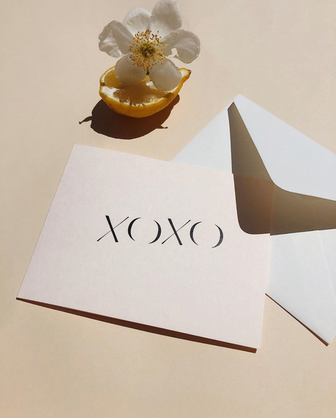 XOXO Note Card by Wilde House Paper