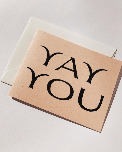 Yay You Note Card by Wilde House Paper
