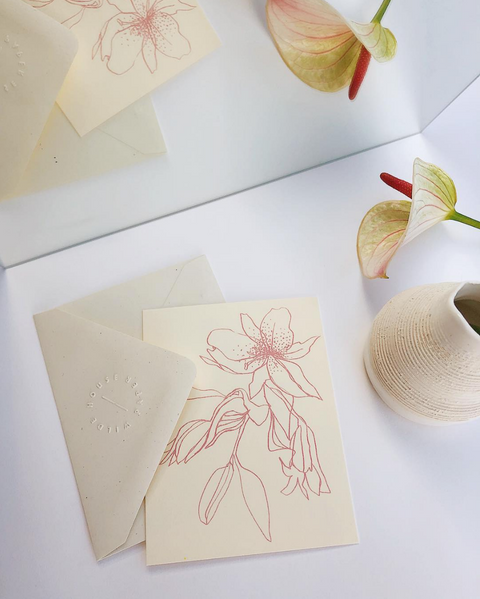 Flora Note Card by Wilde House Paper