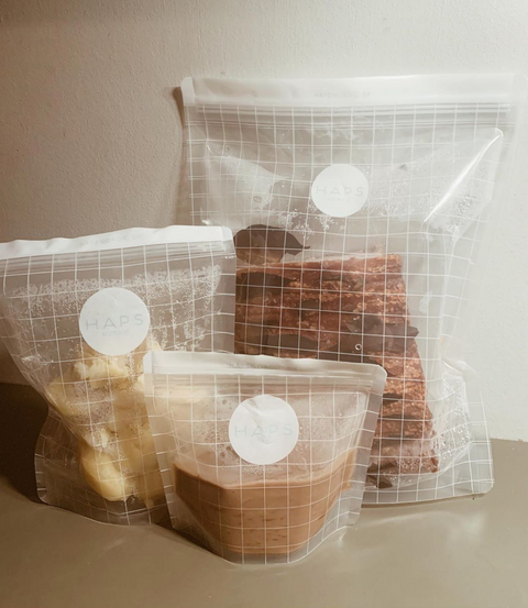 Small Medium and Large Haps Nordic Snack Bags