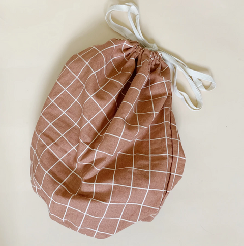 Warm Terracotta Check Large Multi Bag by Haps Nordic