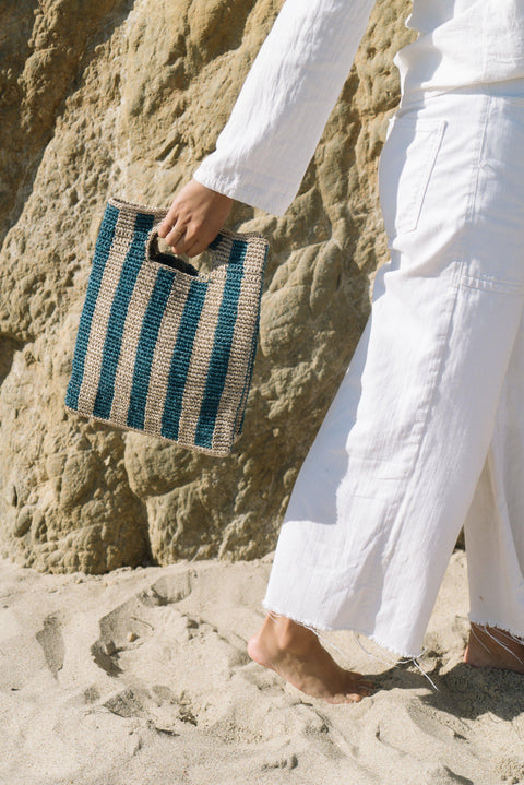 Provence Bag in Peacock Stripe by Someware | H.SMITH