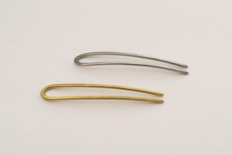 Brass and Silver Mini Hair Pins by CA Makes | H. SMITH