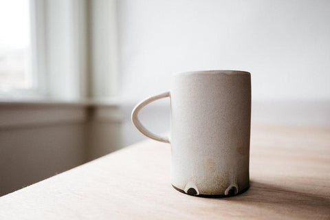 Simple Ceramic Mug in Natural by Notary Ceramics