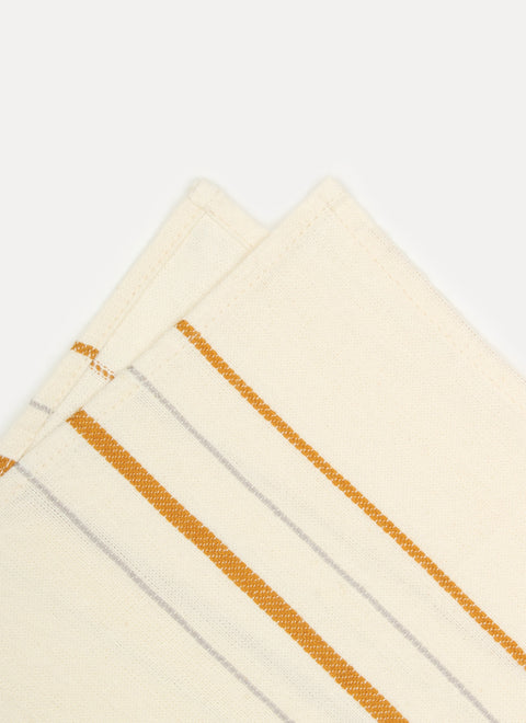 Simple Stripe Sand Napkin Details by Heather Taylor Home
