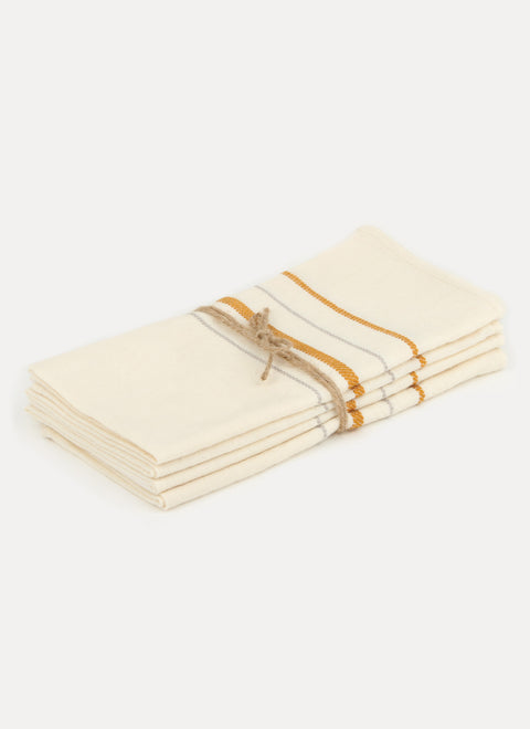 Simple Stripe Sand Napkin Set by Heather Taylor Home