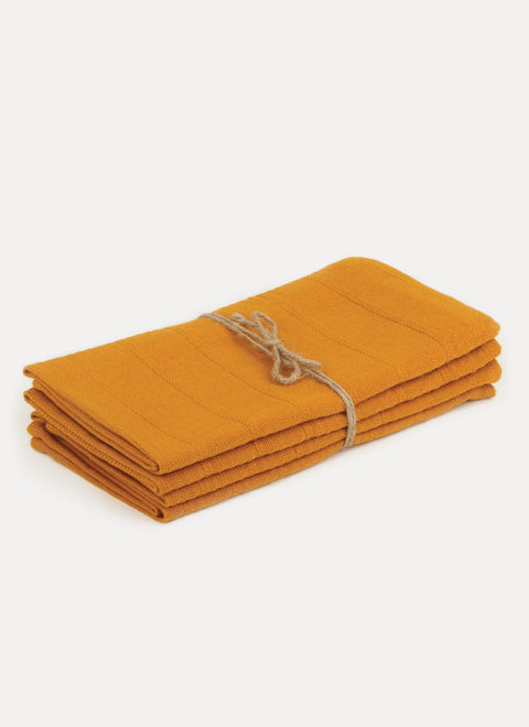 Solid Goldenrod Napkin Set by Heather Taylor Home