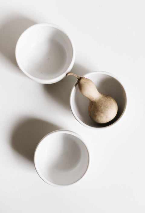 White Soup Bowls by Notary Ceramics