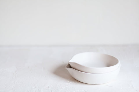 White Ceramic Spoon Rest by Notary Ceramics