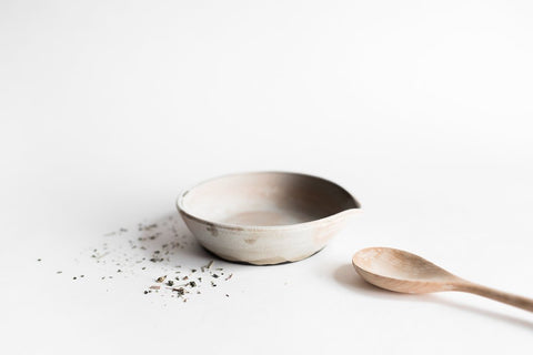 Natural Ceramic Spoon Rest by Notary Ceramics