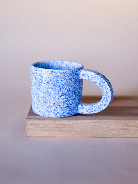 Tephra Blue Splatter Mug by Salamat Ceramics