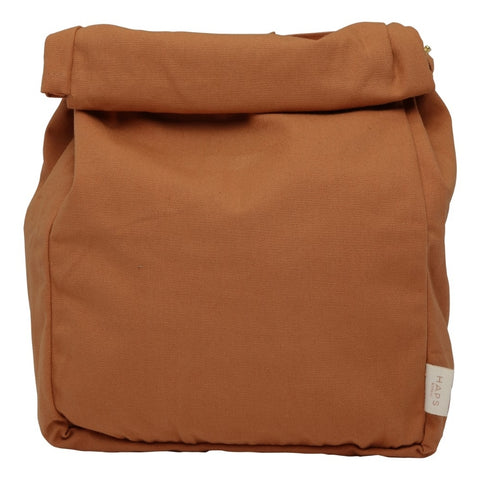 Terracotta Reusable Roll Top Lunch Bag by Haps Nordic