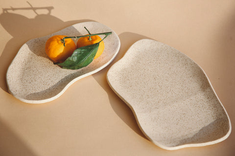 Walnut Speckle Tundra Plates by Salamat Ceramics