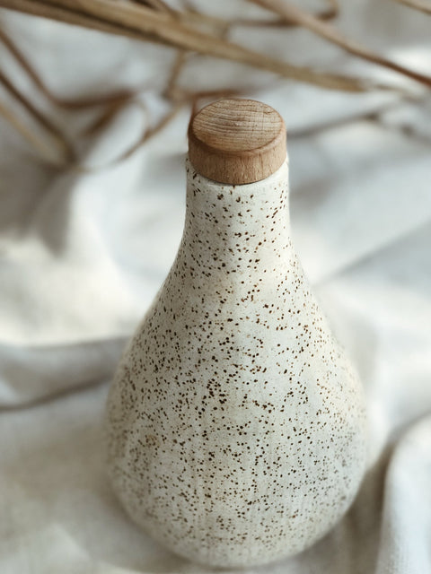 Water Gourd Vessel in Matte White by Easy to Breathe
