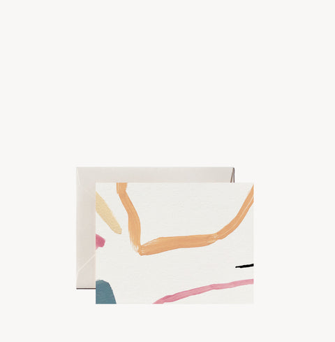 Minimal Painted Notecard by Wilde House Paper