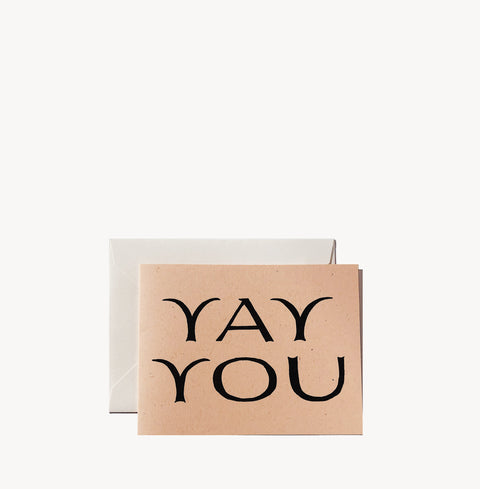 Yay You Card by Wilde House Paper