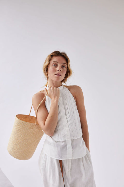 The Bucket Tote in Natural by WORN Store