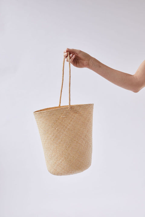The Bucket Tote in Natural by WORN
