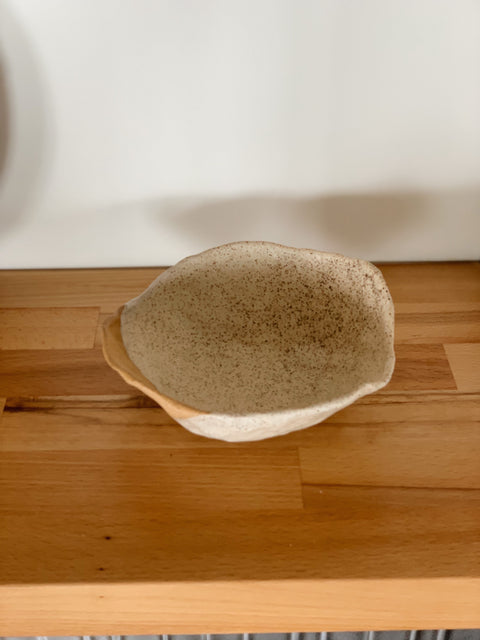 Creamy Speckle Pinch Bowl by Hannah Garvin
