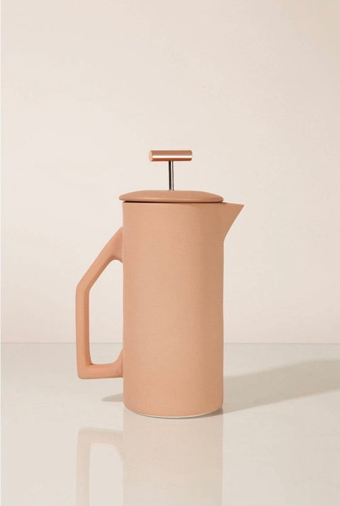 Sand Ceramic French Press by Yield Design Co.