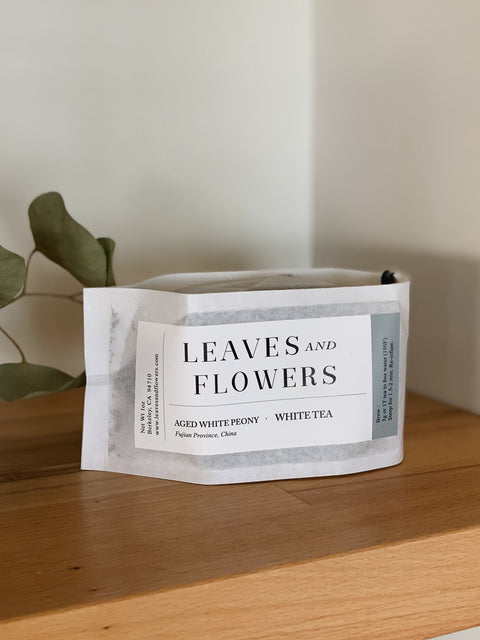 Aged White Peony Tea by Leaves & Flowers