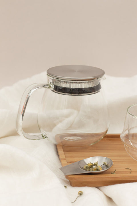 Unitea One Touch Glass Teapot by Kinto