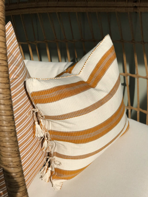Marigold Strip Heather Taylor Home Pillow | H. SMITH
