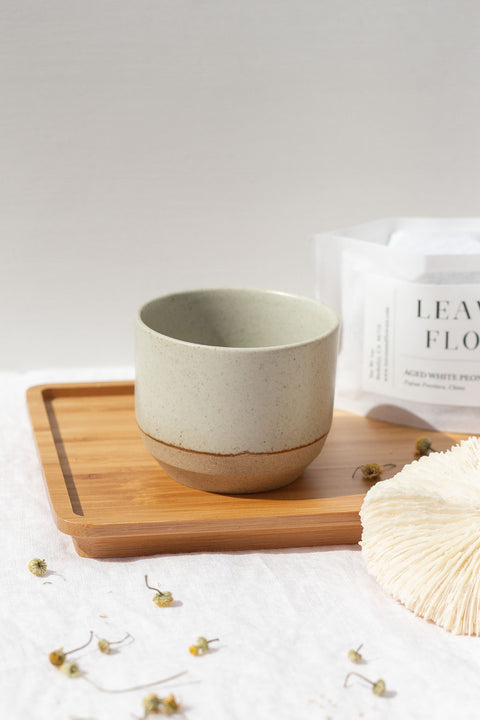 Beige Ceramic Lab Cup by Kinto