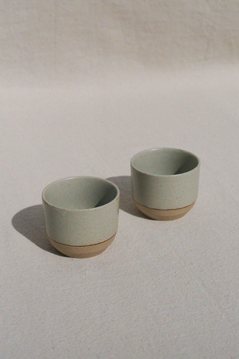 Beige Ceramic Lab Cups by Kinto | H. SMITH