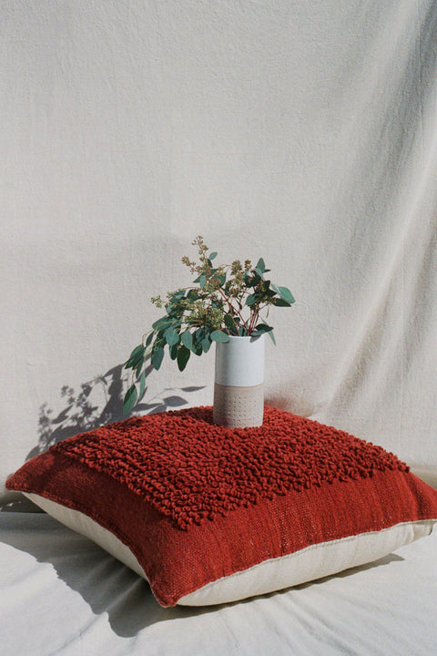 Oversized Rust Cotorin Floor Pillow by Mexchic | H. SMITH