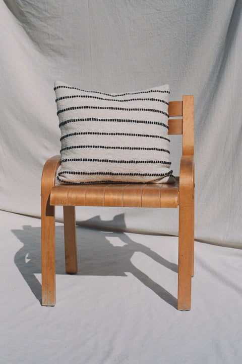 Cream/Black Striped Rayas-Lana Throw Pillow by Mexchic | H. SMITH