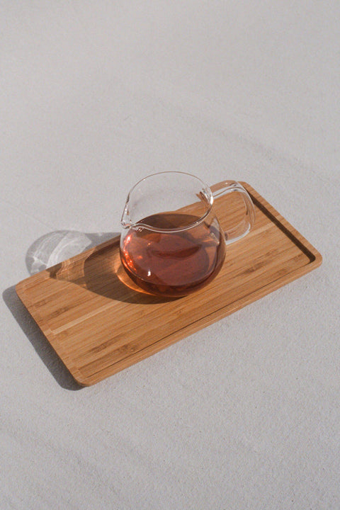 Unitea One Touch Glass Teapot and Bamboo Tray by Kinto | H. SMITH