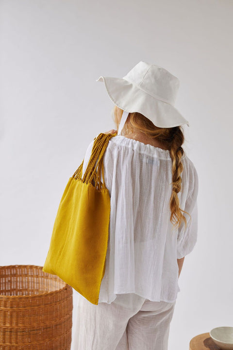 The Textile Tote in Turmeric by Worn