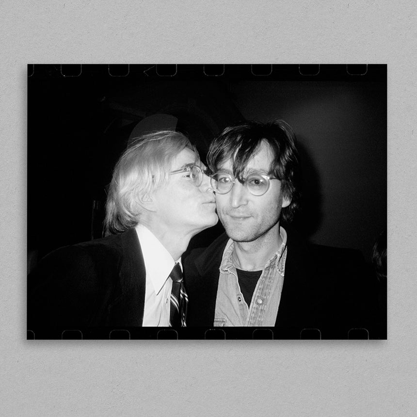 Andy Warhol Kissing John Lennon