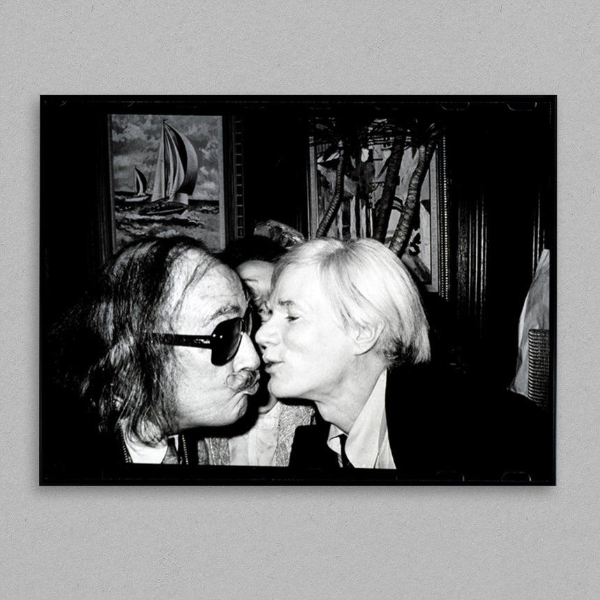 Andy Warhol Kissing Salvador Dali