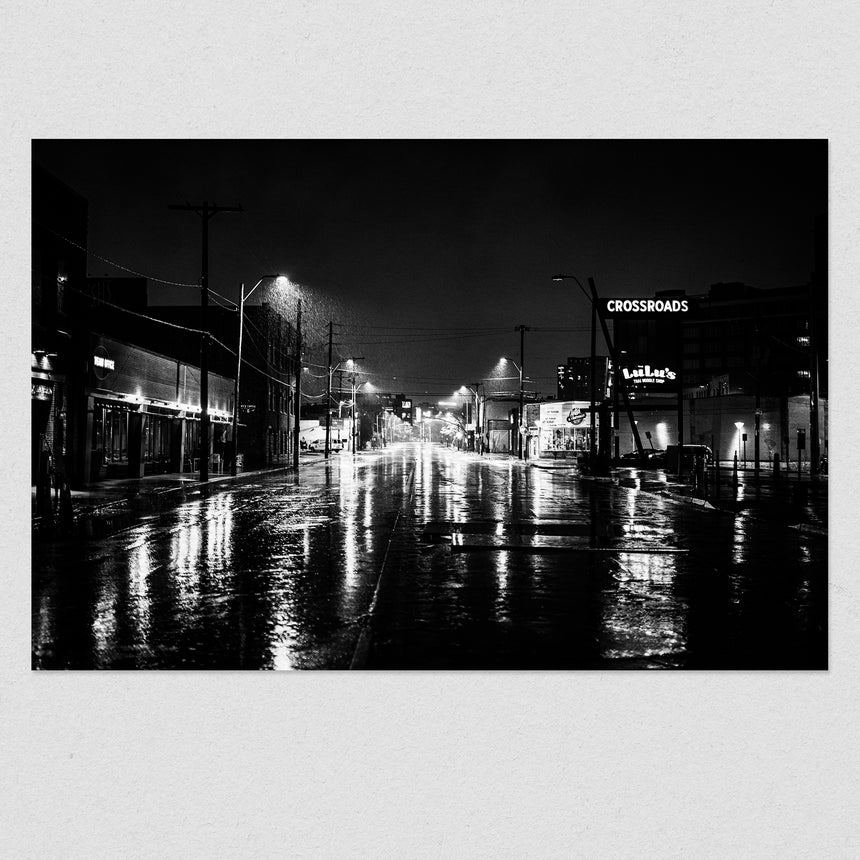 Crossroads at 1am Black & White
