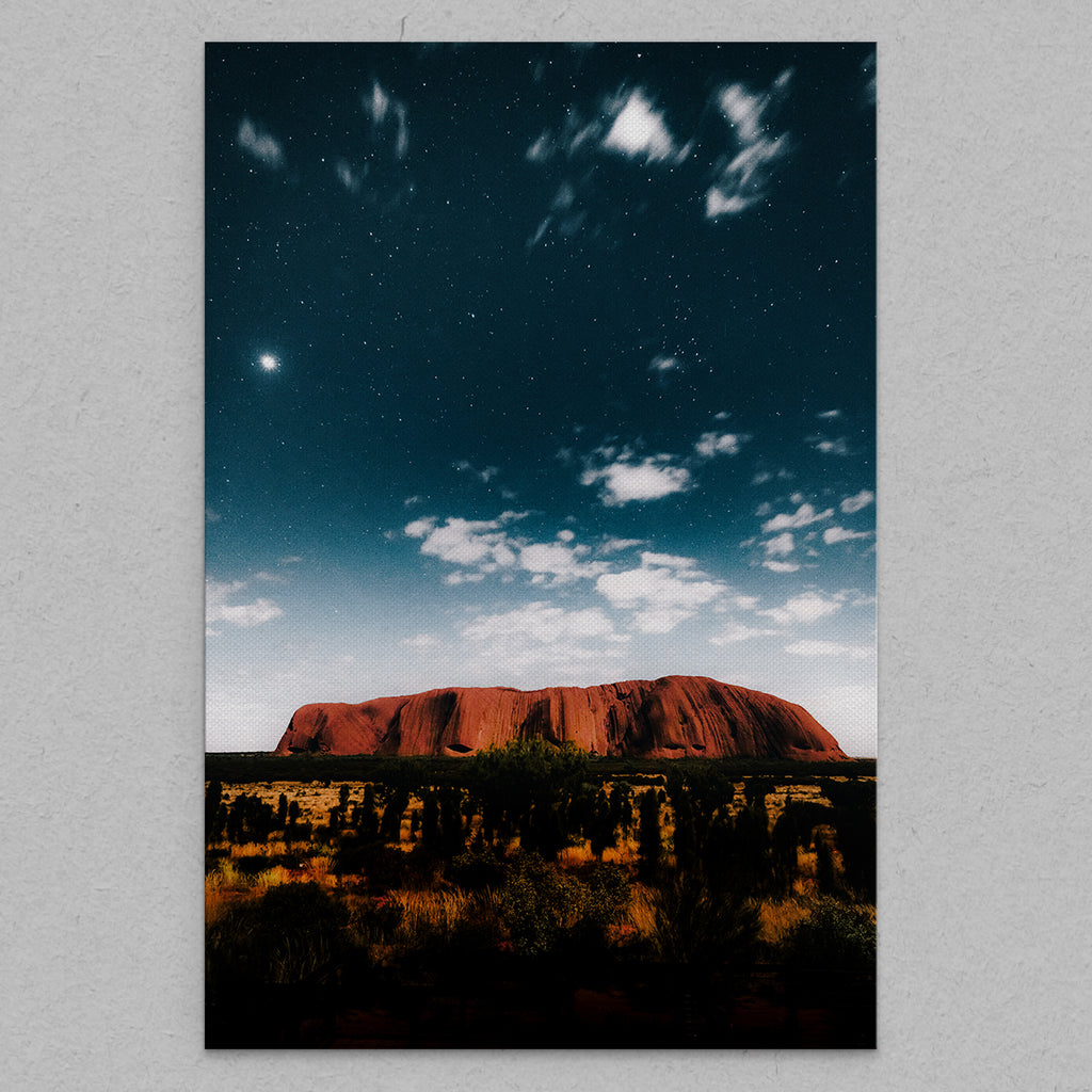Uluru at Dusk - Canvas by Nate Polta