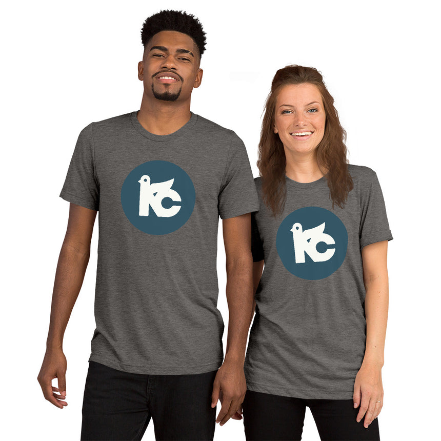 KC Vintage Dove Tee (Grey & Navy)