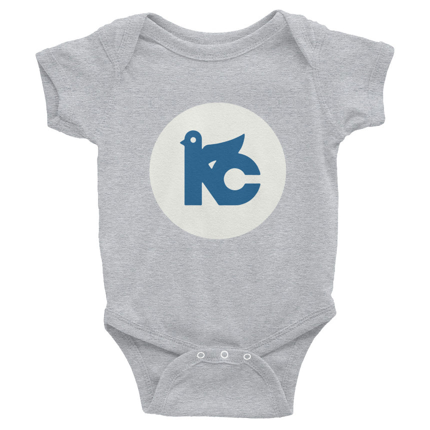 KC Vintage Dove Onesie (Grey & White)