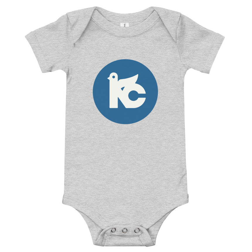 KC Vintage Dove Onesie (Grey & Royal)