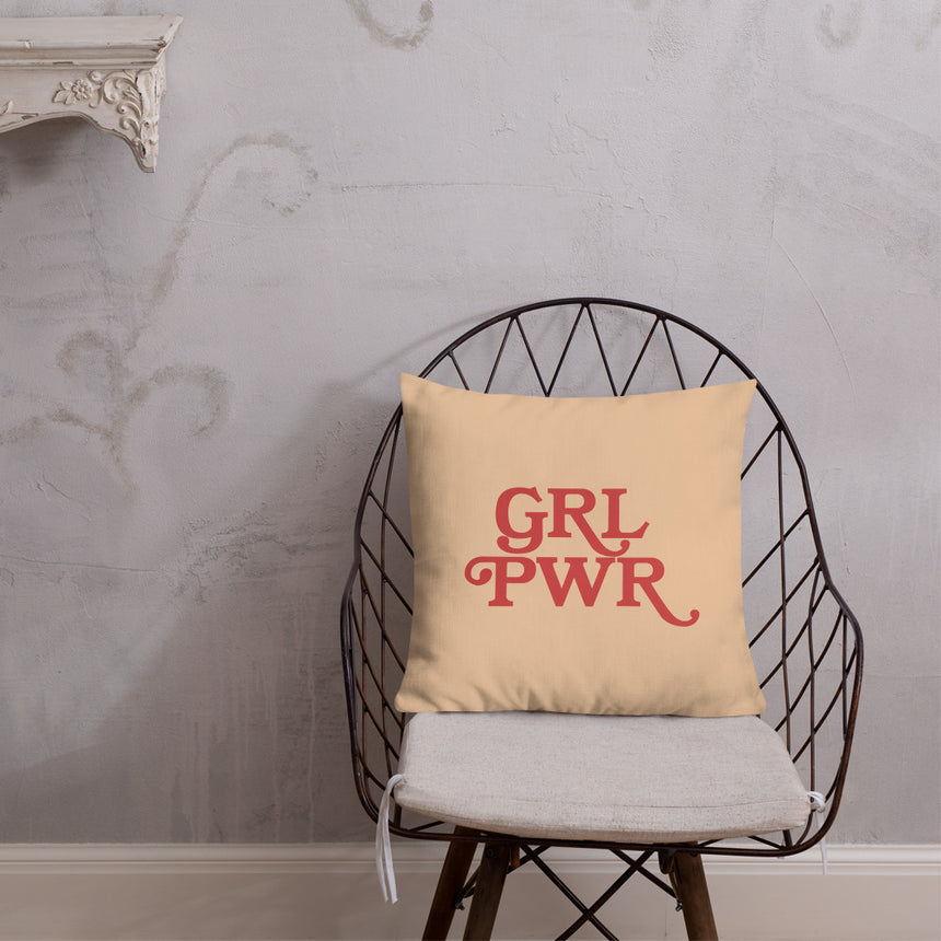 GRL PWR Premium Pillow by Andrea Bosnak