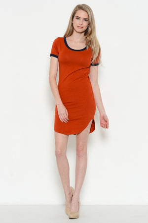 VINTAGE CUT BASEBALL SLEEVE DRESS