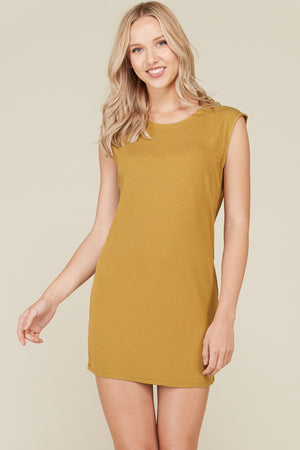 OLIVE MUSCLE TANK DRESS