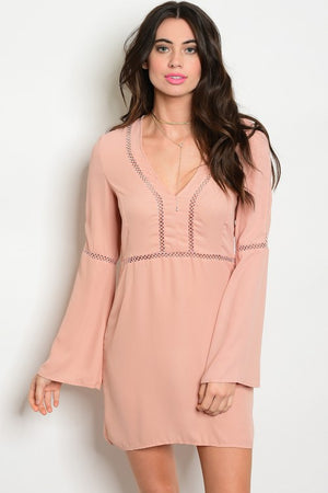 BRIGHT BLUSH BELL DRESS