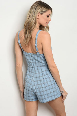 CHECK-HER FRONT BOW ROMPER
