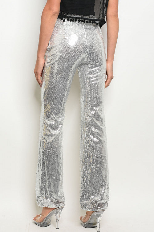 GLASS HEART SEQUIN FLARES