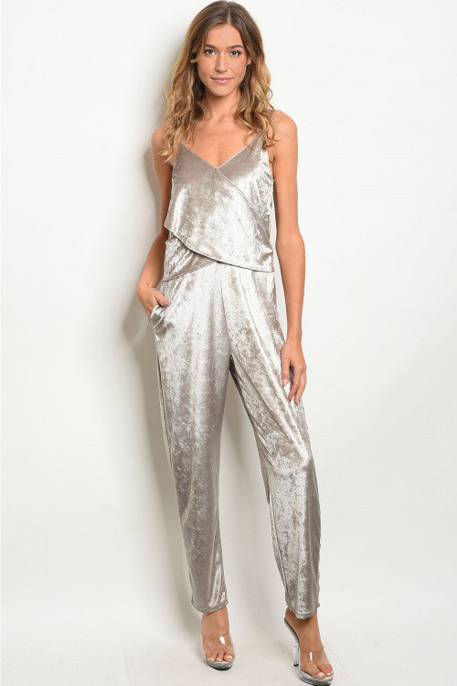 DUSTED VELVET JUMPSUIT